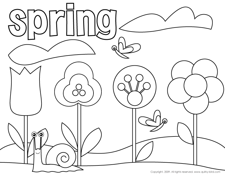 HD wallpapers coloring pages spring break