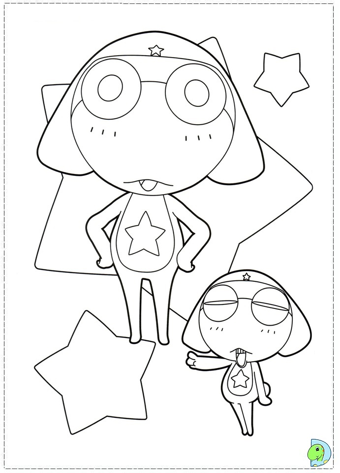 pokemon keroro Colouring Pages