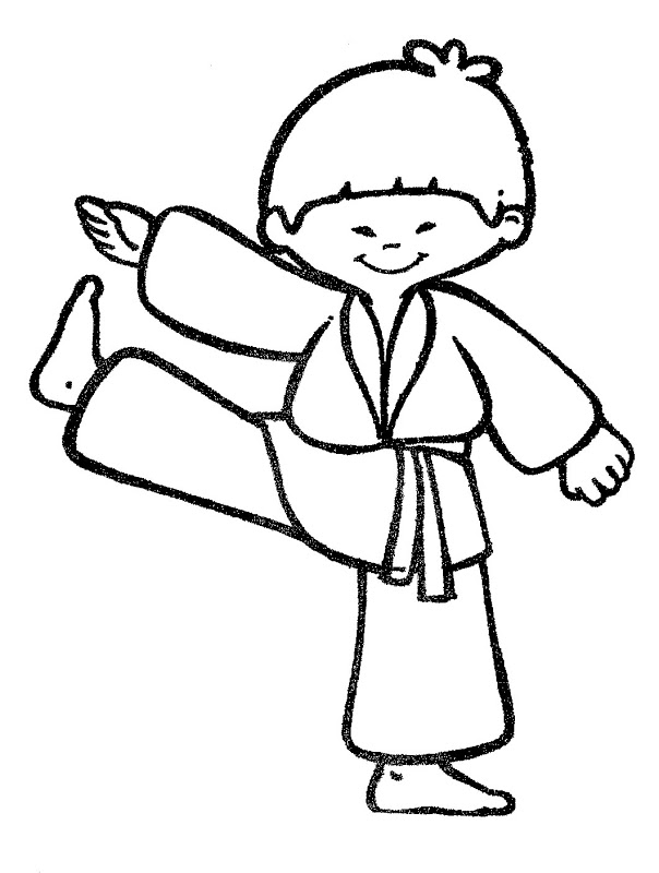 Karate Para Colorear  Pintar Imgenes  AZ Dibujos para colorear