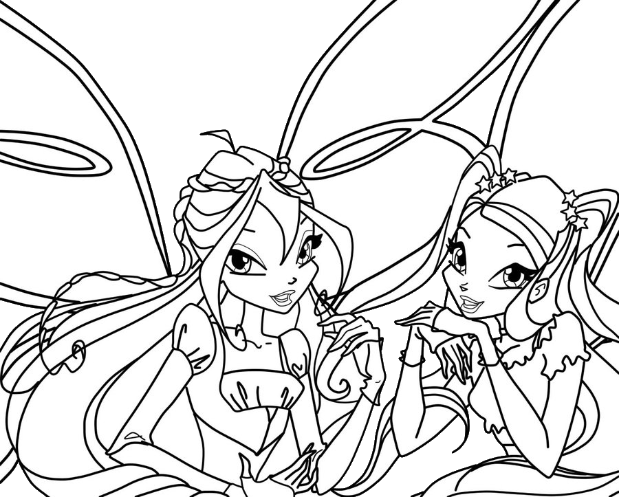 Winx Club All: Colorear: Colorea a Bloom y Stella Believix