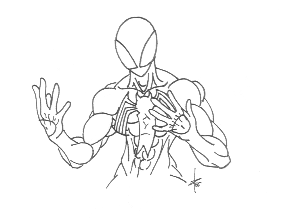 Symbiote Free Coloring Pages