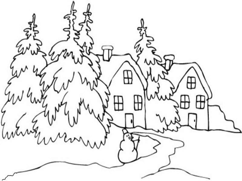Dibujos De Paisajes De Invierno Az Dibujos Para Colorear ...