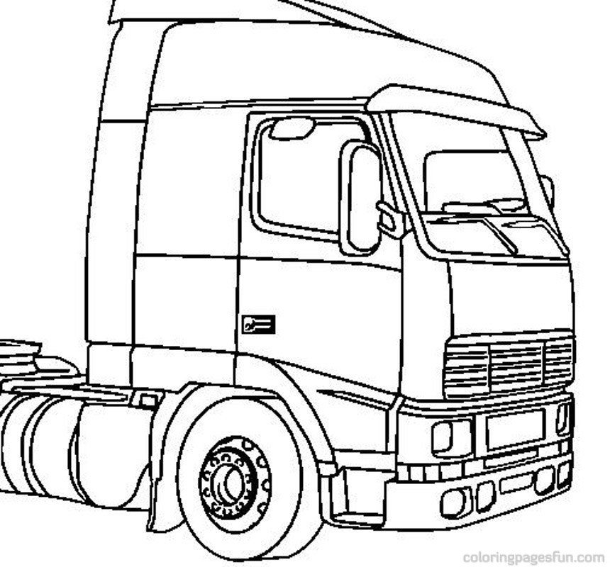 Cement Truck Coloring Pages Truck Coloring Pages 5