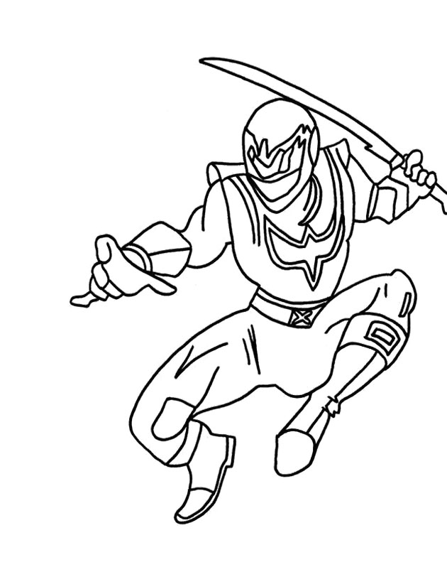 Power Rangers Samurai Verde Coloring Page For Kids - Power Rangers ...