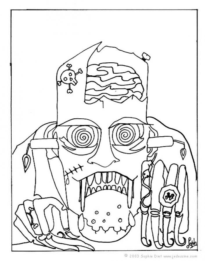 Dibujos Para Colorear De Halloween De Miedo Para Imprimir Dibujos ...