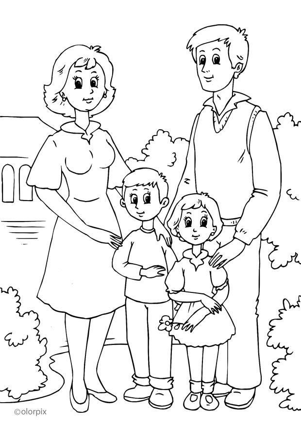 Dibujos De Familia Para Colorear Az Dibujos Para Colorear
