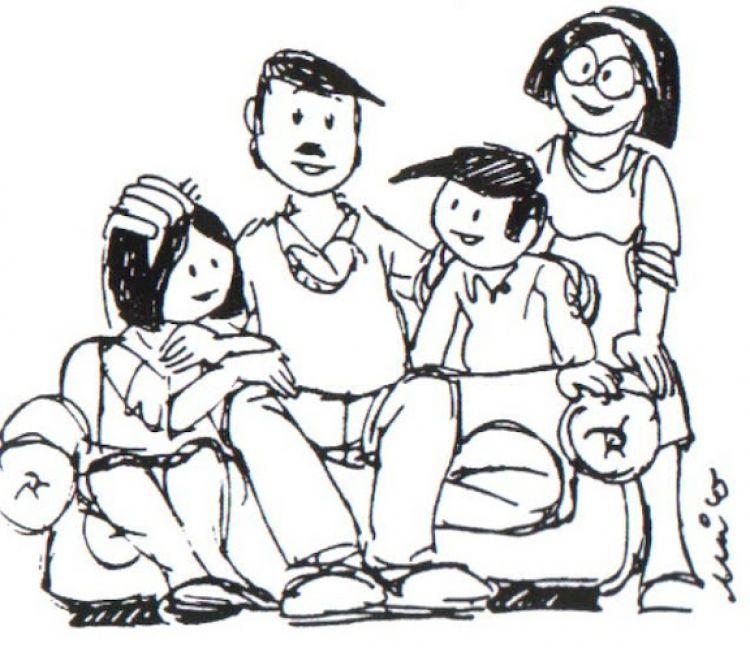 Dibujos Para Colorear De La Familia  AZ Dibujos para colorear