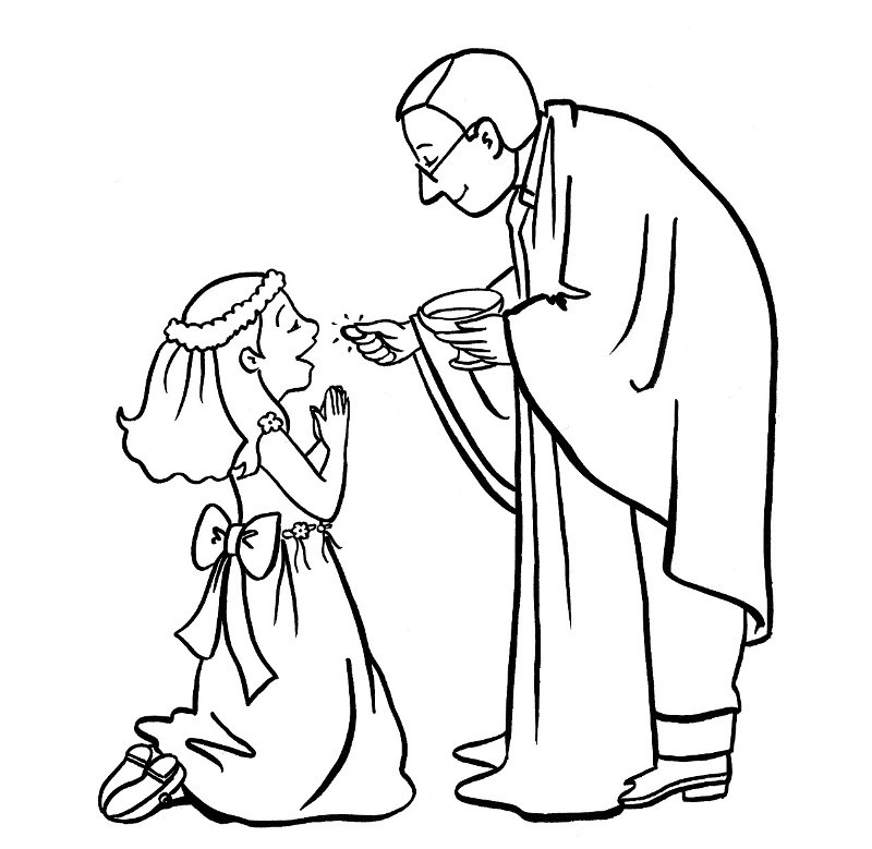 Catholic Communion Coloring Pages