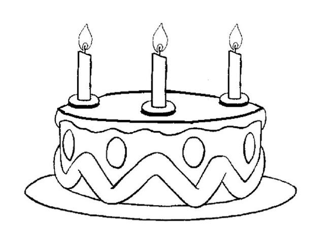 Colorear Tarta Cumpleaños - AZ Dibujos para colorear