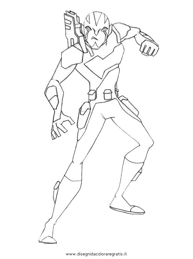 rook of ben10 Colouring Pages