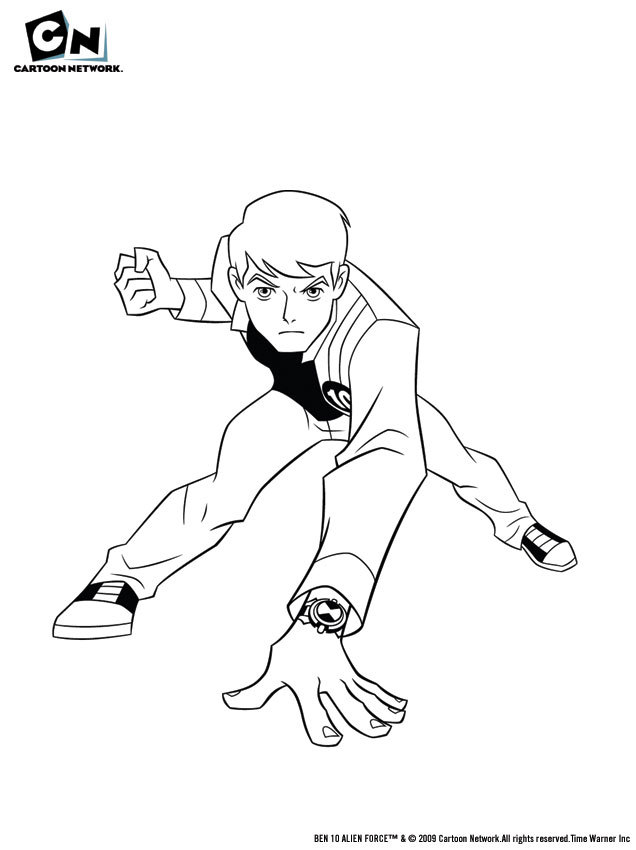 Coloriage BEN 10 ALIEN FORCE - Coloriage de Echo Echo Attaque