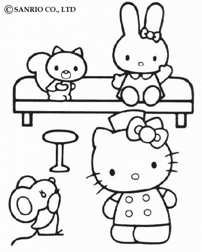 Hello kitty6 - Dibujo de Hello Kitty para imprimir