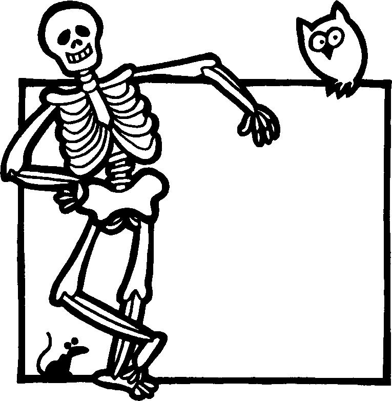Colorear Esqueleto - AZ Dibujos para colorear