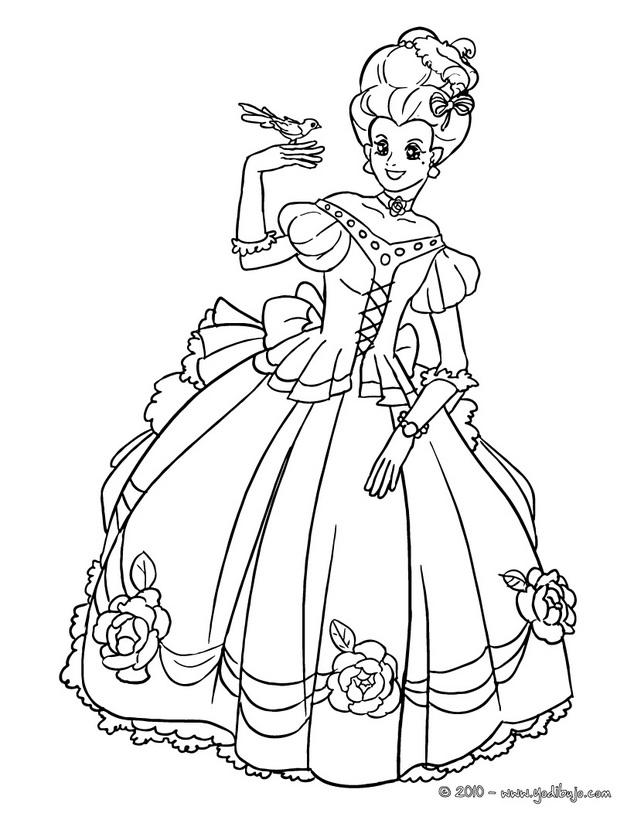Dibujos De Princesas Para Imprimir Y Colorear - AZ Dibujos para colorear