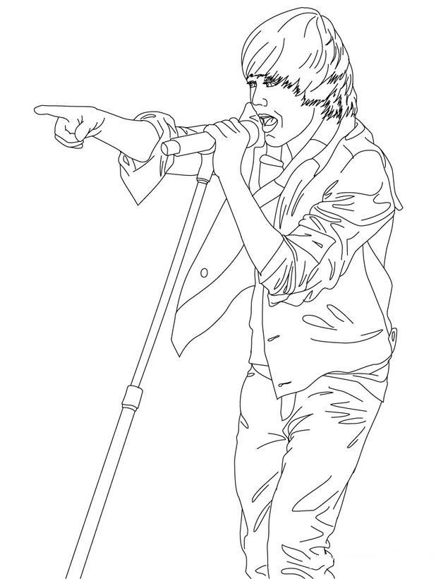 Dibujos Para Colorear De Justin Bieber - AZ Dibujos para colorear