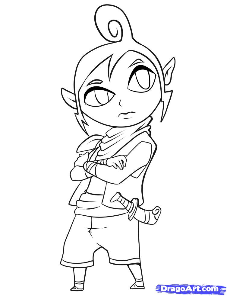 midna coloring pages - the legend of zelda rose coloring pages