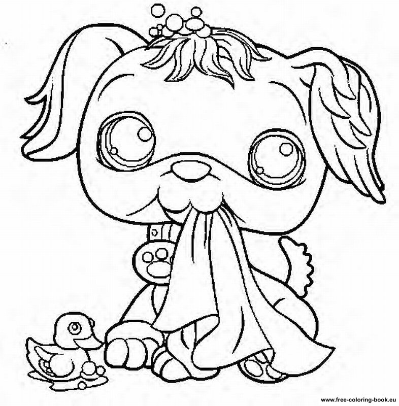 Littlest Pet Shop Coloring Pages To Color Online Car Pictures