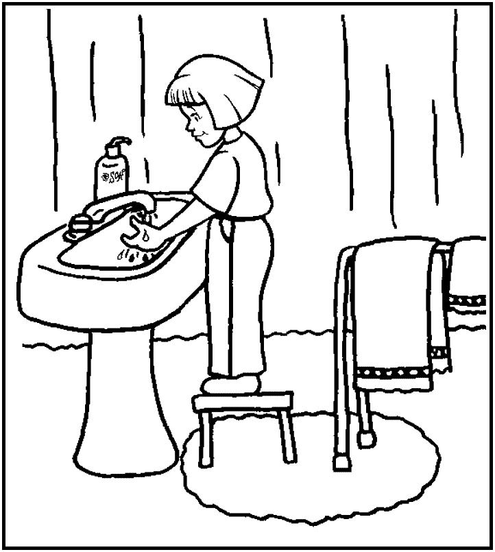 dibujos de baños para colorear - az dibujos para colorear - Imagenes De Un Bano Para Colorear