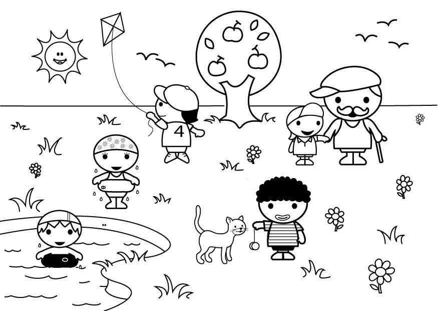 Dibujos Para Colorear Verano - AZ Dibujos para colorear