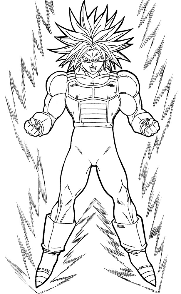 future goku pages Colouring Pages