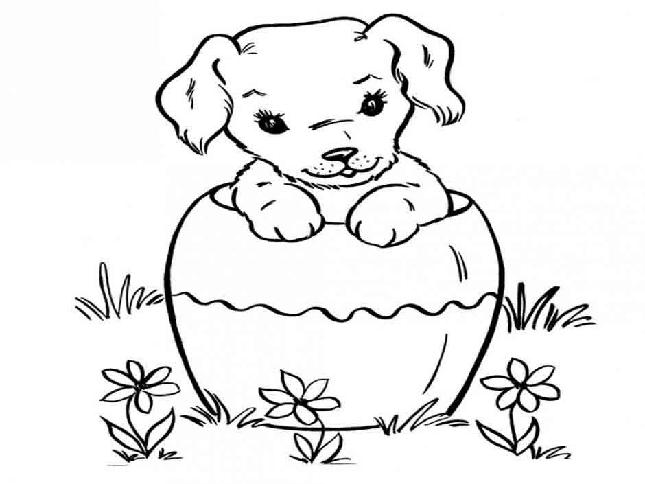 Dibujos De Cachorros De Perros Az Dibujos Para Colorear