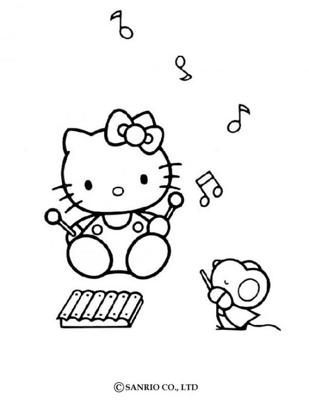 Hello kitty18 - Dibujo de Hello Kitty para imprimir