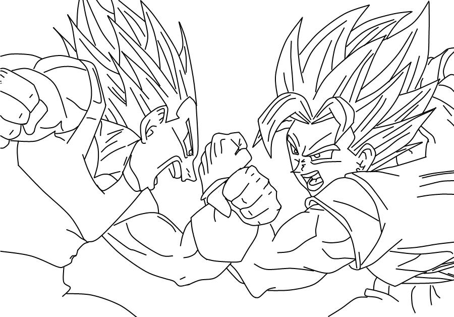 Lujo Imagenes Para Colorear De Goku Fase 4: Imagenes De Goku Fase 10000 Para Colorear