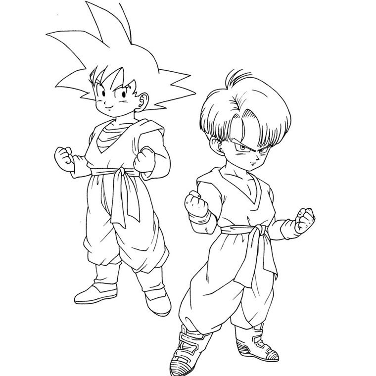 Imágenes para Colorear de Dragon Ball / Z / GT - Vol.1 (19 fotos)