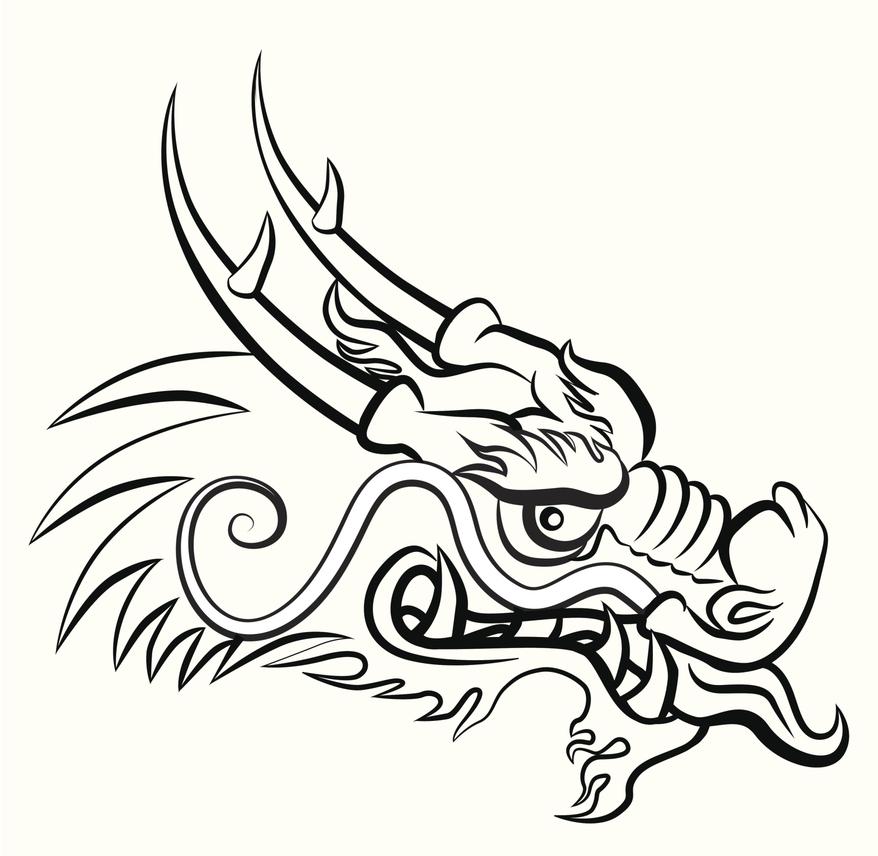Dibujos Para Colorear Dragones Chinos  AZ Dibujos para colorear