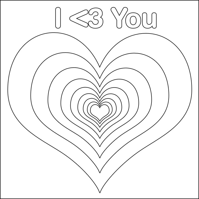 virtual magazine: coloring pages of hearts with arrows