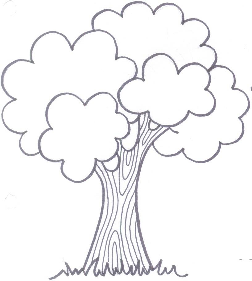 Free coloring pages of arbol frondoso - Albol de navidad ...