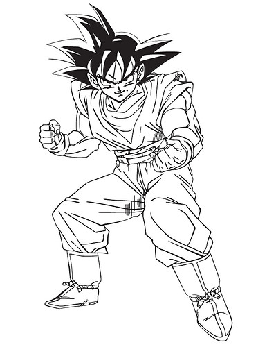 Worksheet. Dibujos De Goku Para Colorear  Blogitecno  Tecnologa   AZ