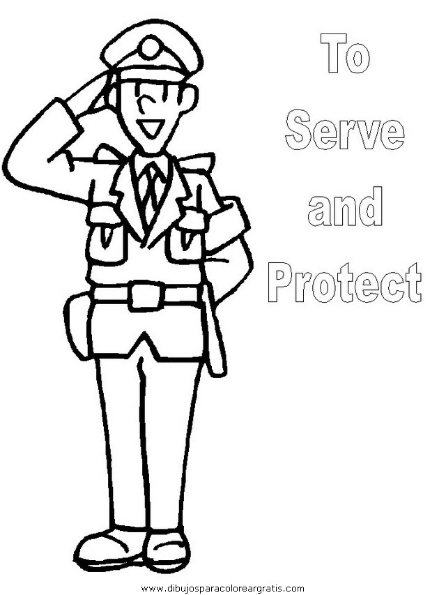 policia animado Colouring Pages (page 3)
