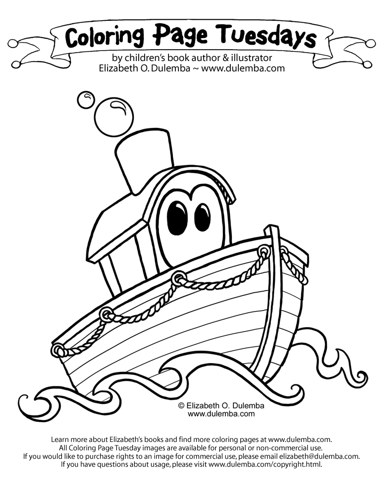 dulemba: Coloring Page Tuesday - Boat