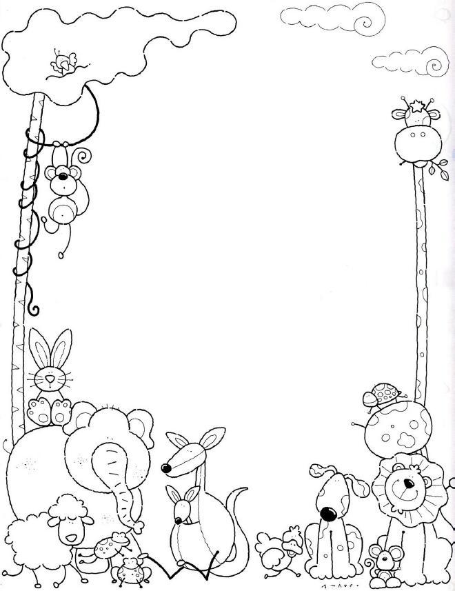 Increíble Lindo Bebé Jungla Animales Para Colorear Viñeta - Ideas ...