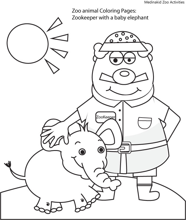 zookeeper coloring pages - photo#11