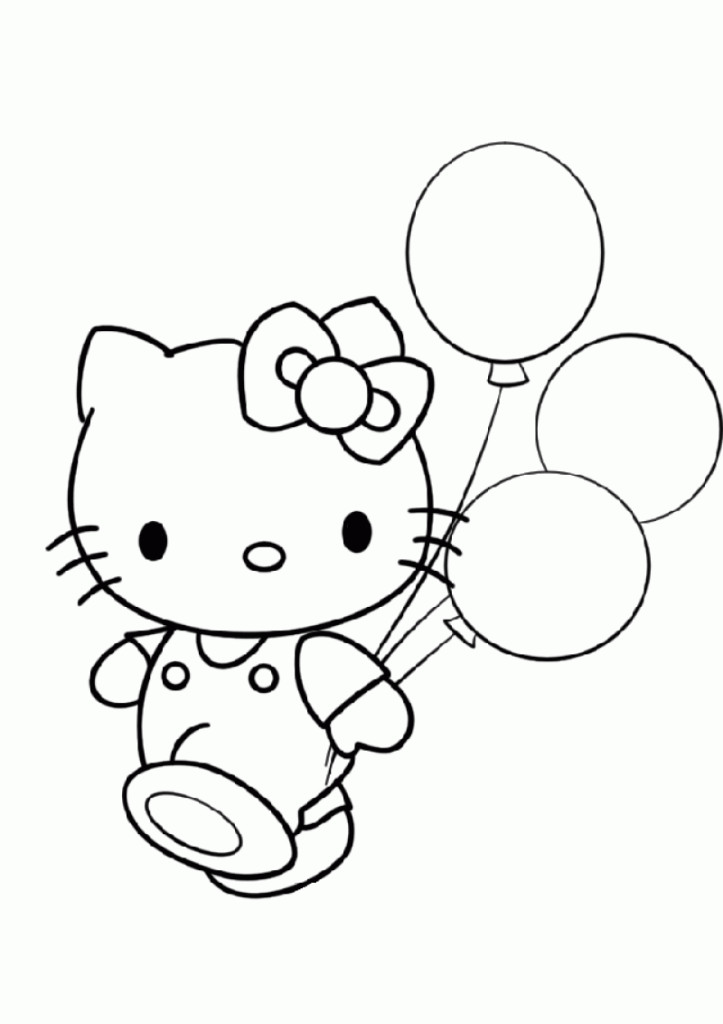Hello Kitty Birthday Coloring Pages - HD Printable Coloring Pages