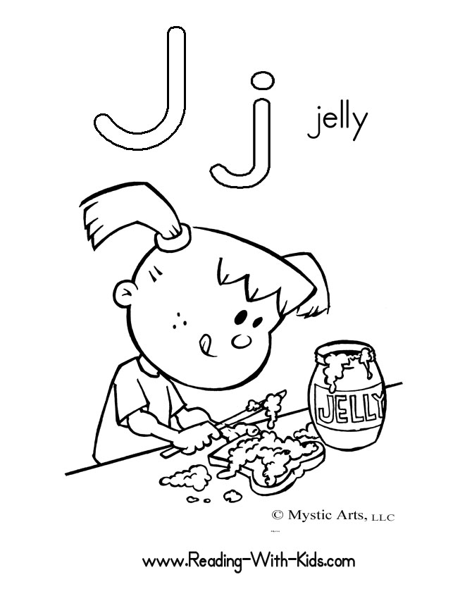 The Letter J Coloring Pages