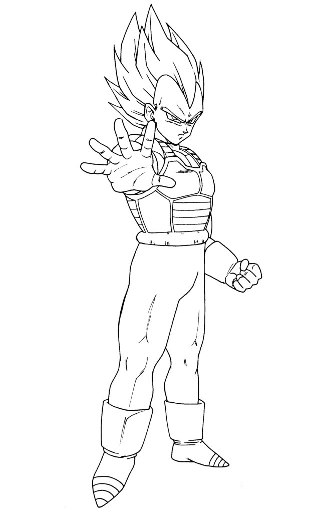 Dragon Ball Z Para Colorear Vegeta - AZ Dibujos para colorear
