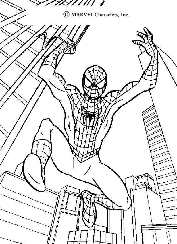 SPIDER-MAN coloring pages - Spiderman's big jump
