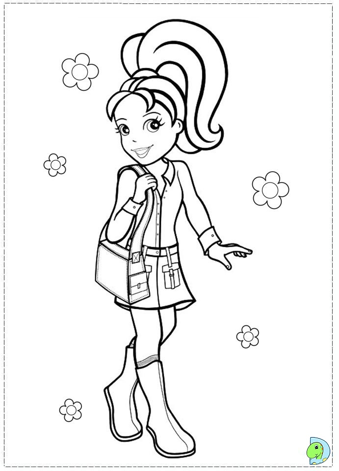polly polly pocket Colouring Pages