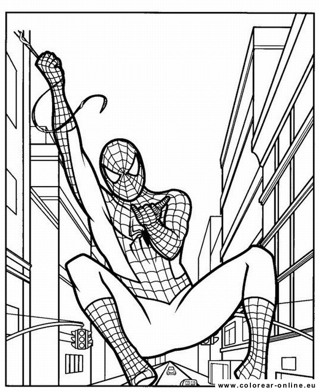 colorear lego spiderman Colouring Pages (page 3)