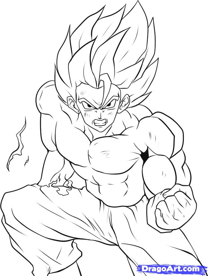Super Saiyan 5 Goku Colouring Pages