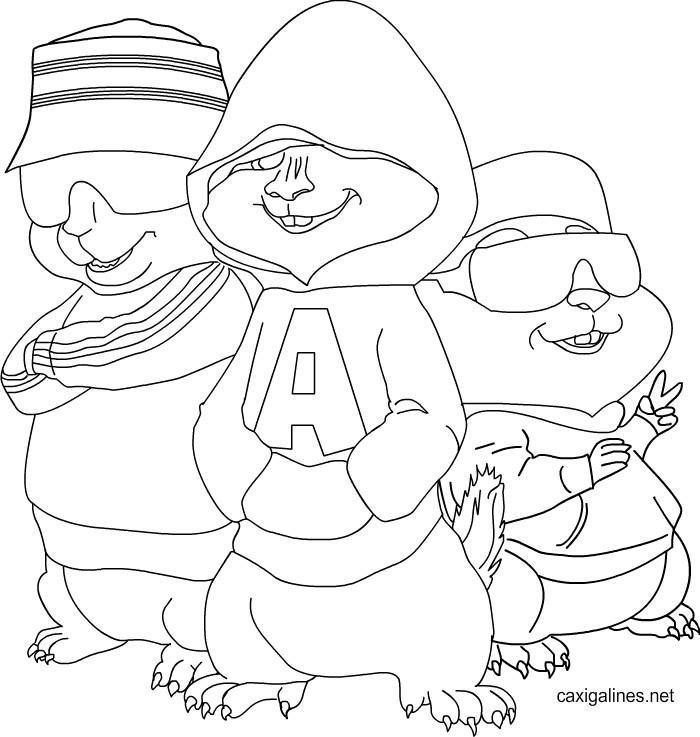 Alvin Y Las Ardillas Para Pintar  AZ Dibujos para colorear
