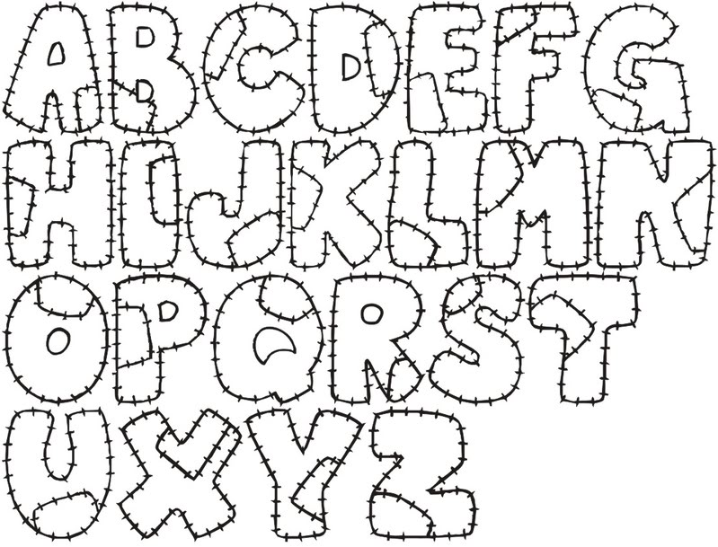 letras del abecedario Colouring Pages