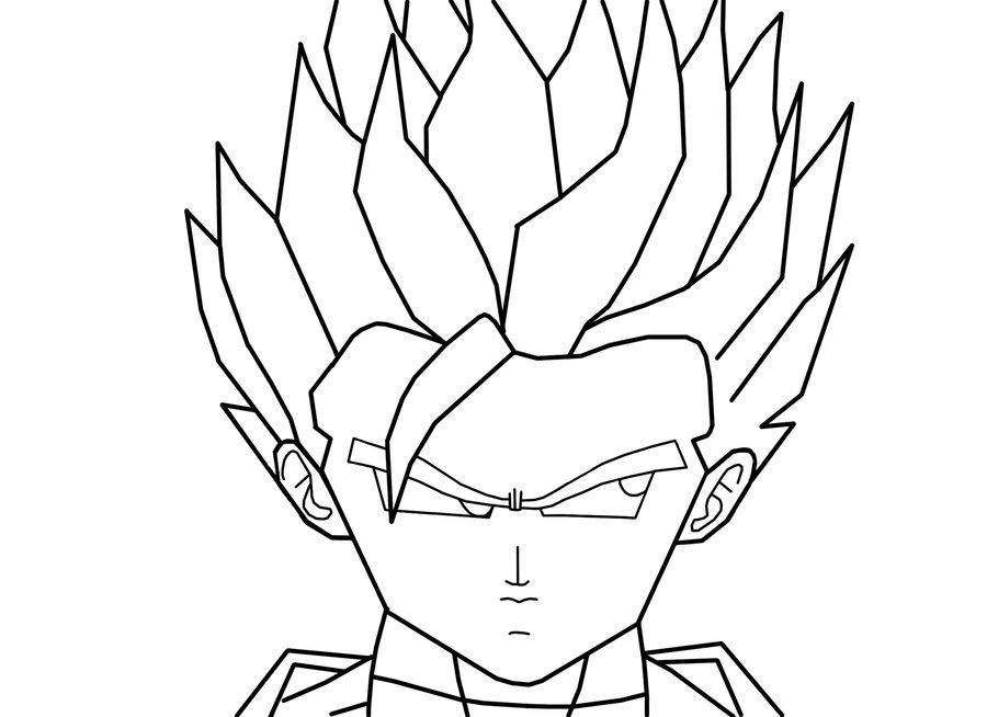 dragon ball z coloring pages trunks super saiyan : Printable ...