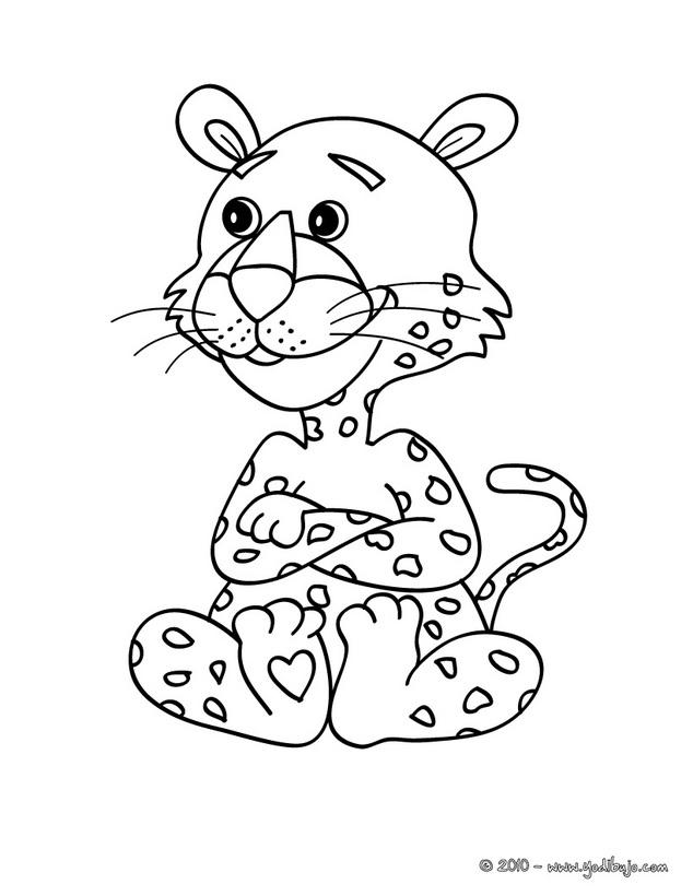 Jaguar Animal Para Colorear - AZ Dibujos para colorear