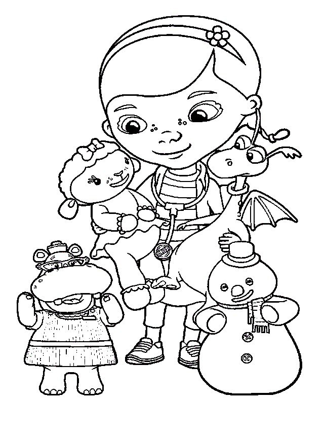 doctora juguete Colouring Pages