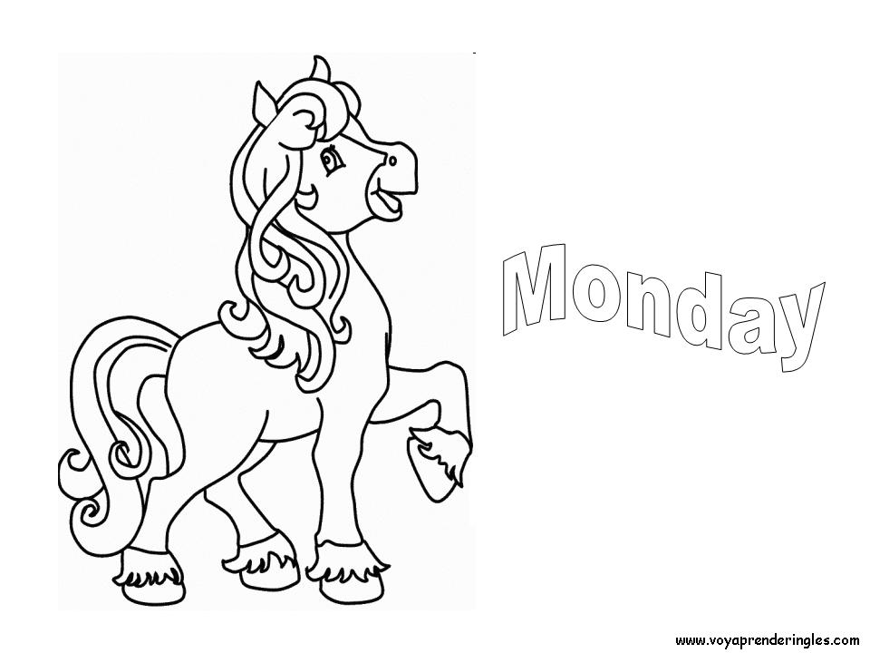 monday Colouring Pages