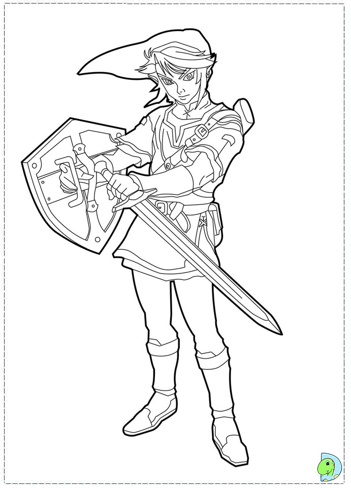 The Legend Of Zelda Color Me Az Dibujos Para Colorear